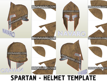 Load image into Gallery viewer, Spartan Helmet pepakura
