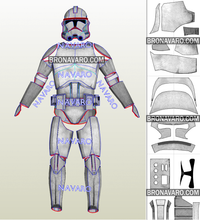 Load image into Gallery viewer, clone trooper armor cosplay pattern