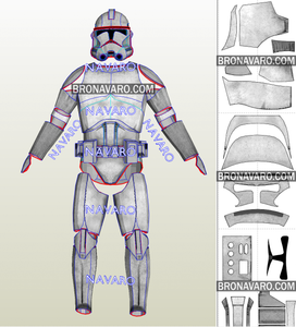 clone trooper armor cosplay pattern