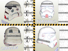 Load image into Gallery viewer, Stormtrooper Helmet Foam Template