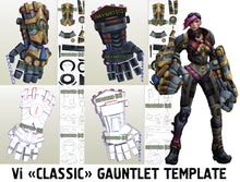 Load image into Gallery viewer, vi gauntlets pattern