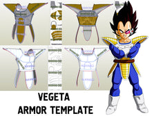 Load image into Gallery viewer, vegeta armor template