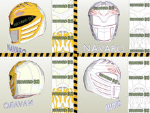Load image into Gallery viewer, white ranger movie helmet