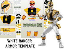Load image into Gallery viewer, white ranger pepakura