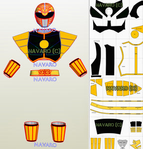 white ranger foam template