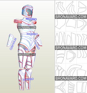 Wonder Woman 1984 Armor Pepakura