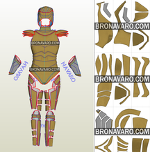 Load image into Gallery viewer, Wonder Woman 1984 Golden Eagle Armor Pattern