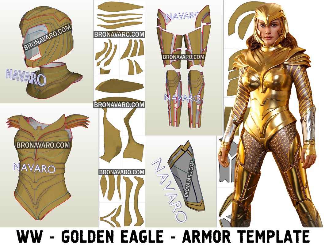 Wonder Woman 1984 Golden Eagle Armor Pepakura