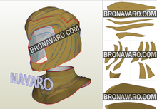Load image into Gallery viewer, Wonder Woman 1984 Helmet Eva Foam Pattern