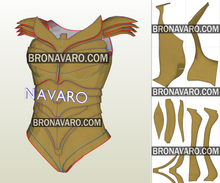 Load image into Gallery viewer, Wonder Woman Armor Foam Template