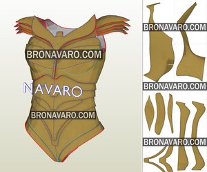 Wonder Woman Armor Foam Template