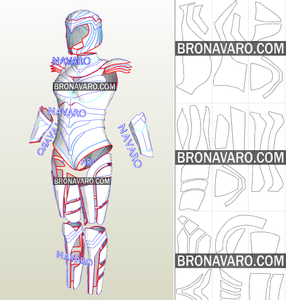 Wonder Woman Cosplay Armor Template