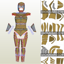 Load image into Gallery viewer, Wonder Woman Golden Eagle Cosplay Template
