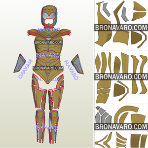 Wonder Woman Golden Eagle Cosplay Template