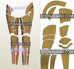 Wonder Woman Golden Eagle Legs Cosplay Pattern