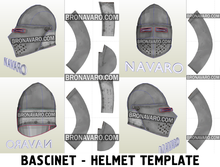 Load image into Gallery viewer, Larp bascinet helmet pepakura template