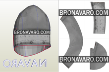 Load image into Gallery viewer, bascinet knight helmet pattern