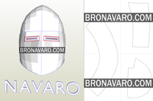 Load image into Gallery viewer, bascinet pig face helmet template