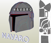 Load image into Gallery viewer, mandalorian helmet template