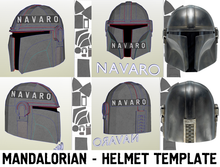 Load image into Gallery viewer, mandalorian helmet pepakura