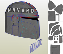 Load image into Gallery viewer, mandalorian eva foam template