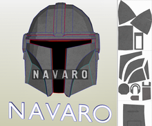 Load image into Gallery viewer, mandalorian helmet pattern