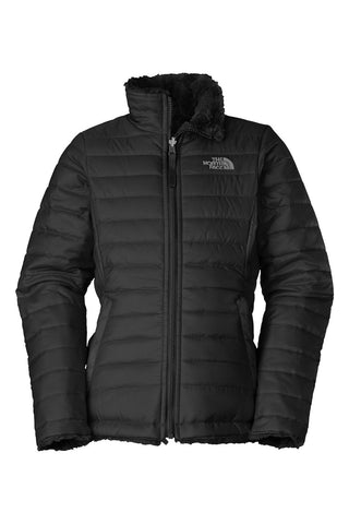 The North Face Girls Reversible Mossbud Swirl Jacket TNF Black