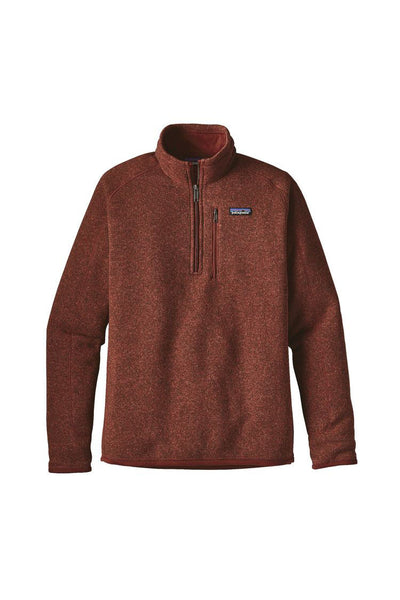 Patagonia Men's Better Sweater 1/4 Zip Cinder Red