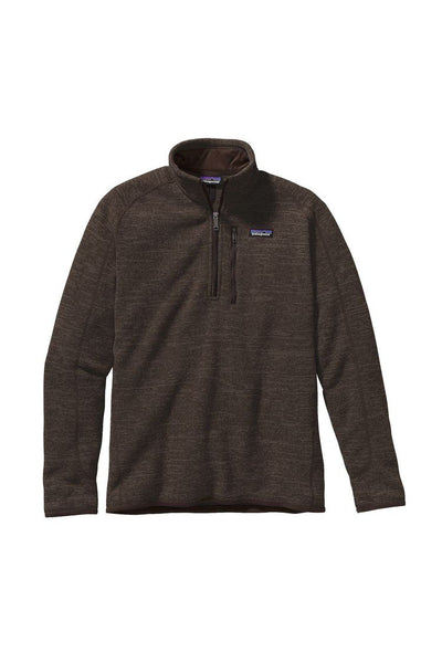Patagonia Men's Better Sweater 1/4 Zip Dark Walnut