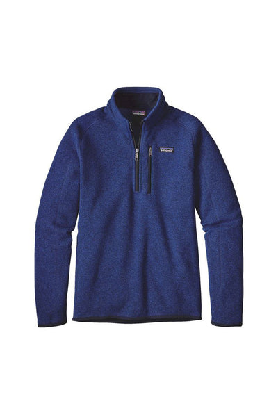 Patagonia Men's Better Sweater 1/4 Zip Harvest Blue
