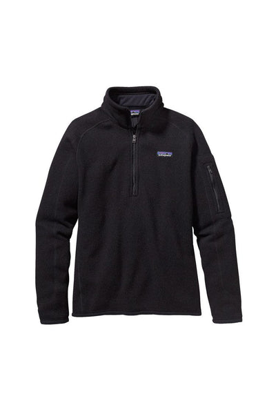 Patagonia Women's Better Sweater 1/4 Zip Black