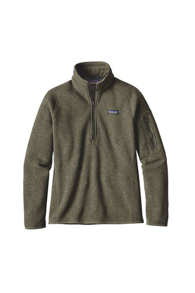 Patagonia Women's Better Sweater 1/4 Zip Industrial Green