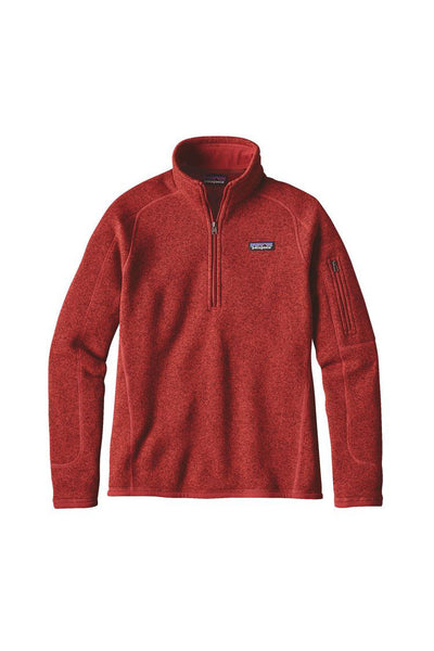 Patagonia Women's Better Sweater 1/4 Zip Ramble Red