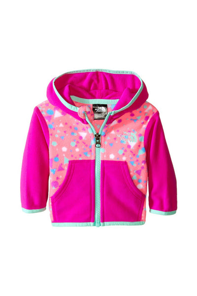 The North Face Infant Glacier Full Zip Hoodie Gem Pink Confetti Print