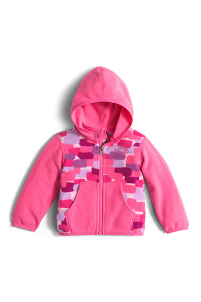The North Face Infant Glacier Full Zip Hoodie Cabaret Pink Block Print
