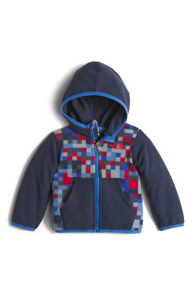 The North Face Infant Glacier Full Zip Hoodie Jake Blue Pixel Print