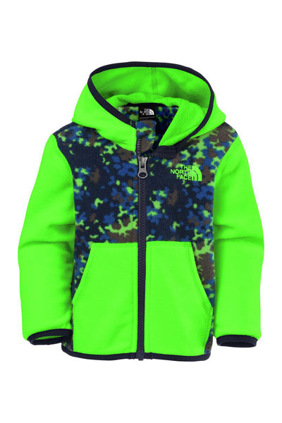 The North Face Infant Glacier Full Zip Hoodie Krypton Green Marble Camo