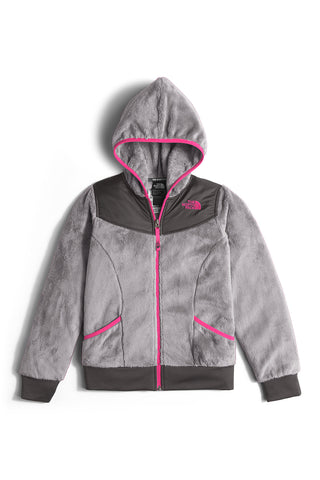 The North Face Girls Oso Hoodie Metallic Silver