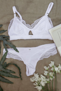 Laurel Bra - White