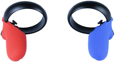 Red and Blue Colored Silicone Skins for Oculus Touch 1