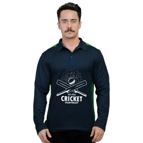 Raglan Cricket Polo (LS)