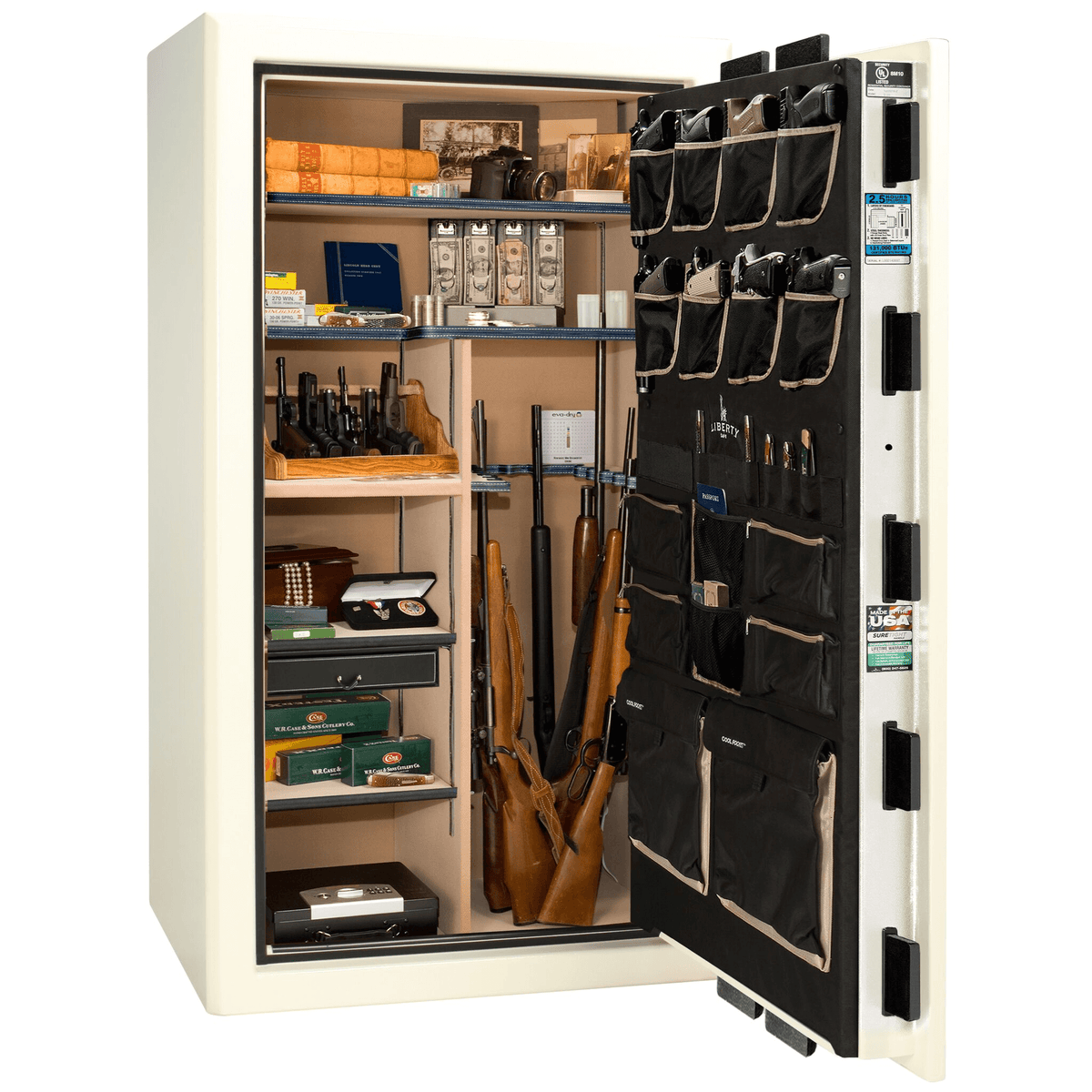 "Presidential Series | Level 8 Security | 2.5 Hours Fire Protection | 50 | Dimensions: 72.5""(H) x 42""(W) x 32""(D) 