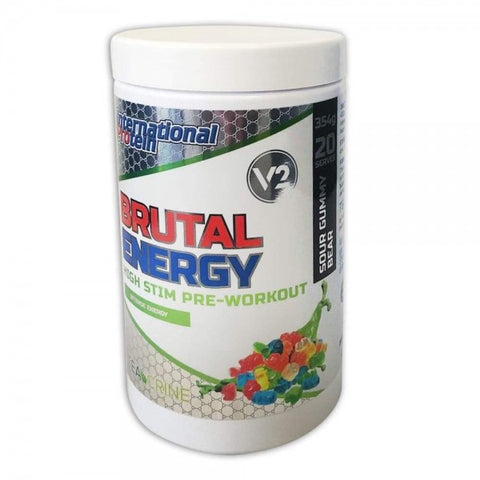 Brutal Energy  V2 - 360g International Protein (New Jar)