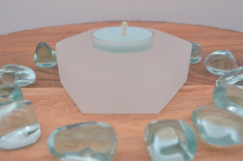 Selenite Hexagon Candle Holder