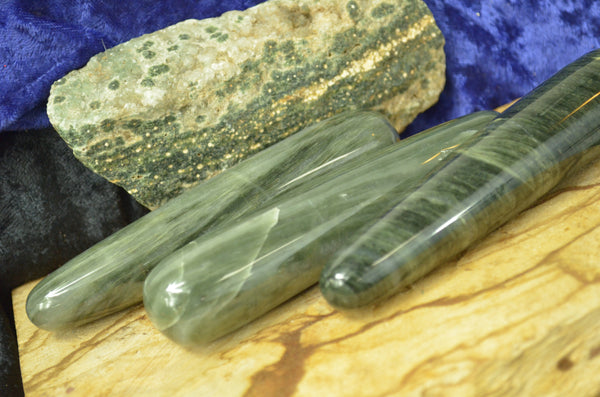 Green Hair Jasper Wands