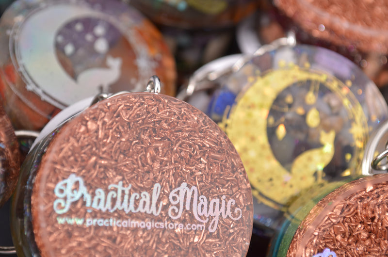 Orgonite Practical Magic Keychains