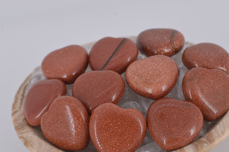 Red Goldstone Mini Hearts
