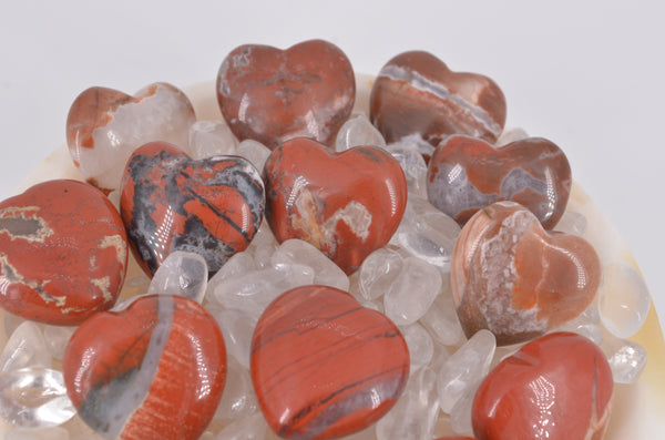 Red Brecciated Jasper Mini Hearts