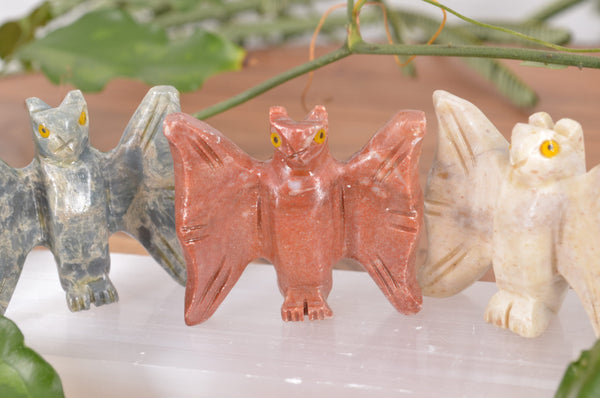 Bat Soapstone Steatite Carving for Broadening Horizons & Shamanic Guidance