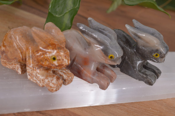 Rabbit Soapstone Steatite Carving for Broadening Horizons & Shamanic Guidance